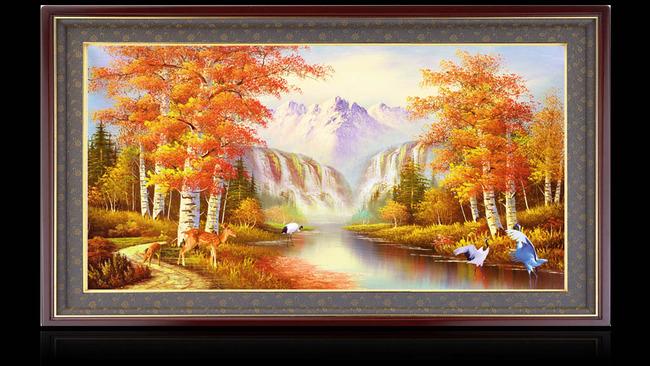 手绘油画风景高清图片下载(图片编号12885863)山水画
