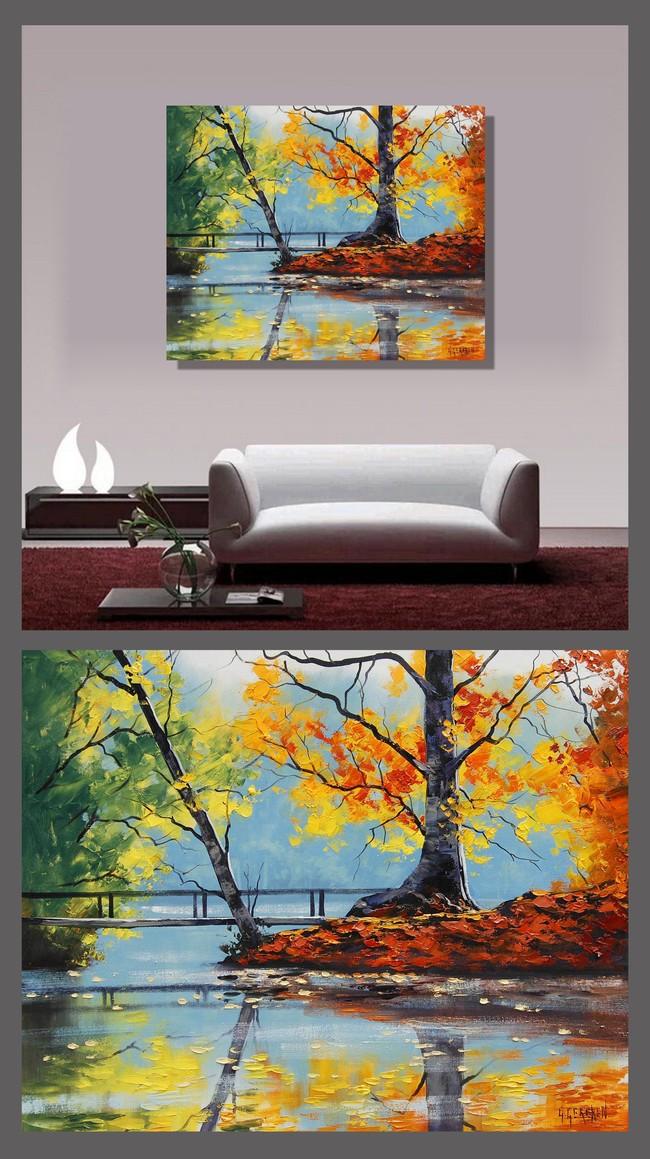 山水油画风景无框画装饰画模板下载 山水油画风景无框画装饰画图片