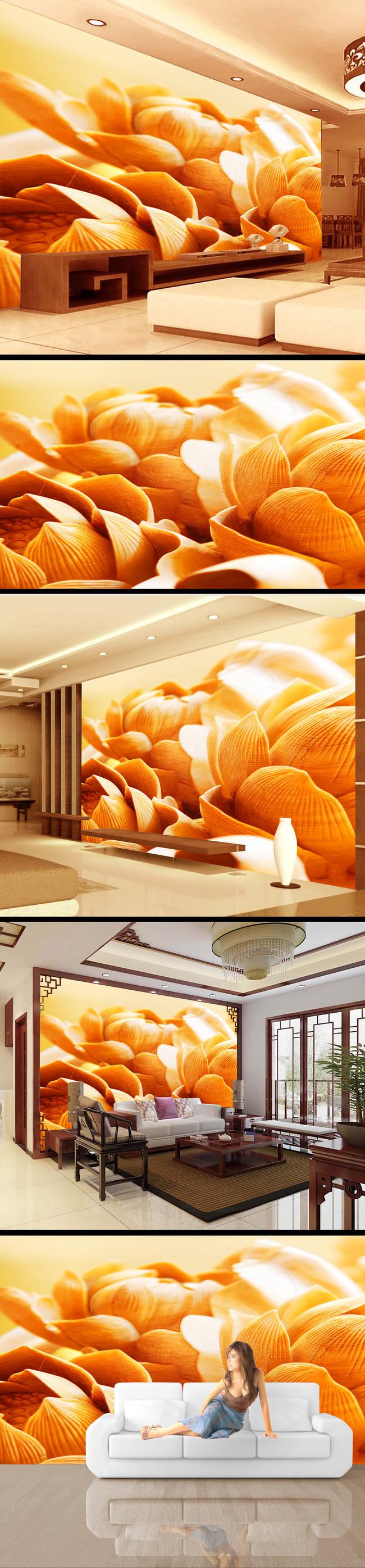 古典 中式 中国风 木雕 浮雕 雕刻 雕塑 3d立体 电视背景墙 国画 中国