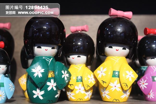 日本和服娃娃模板下载