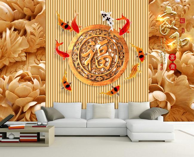 壁画电视背景墙