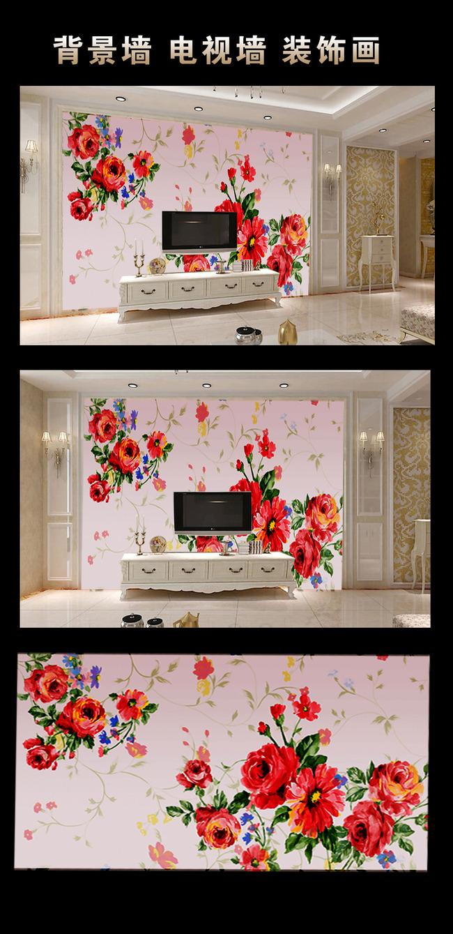 手绘电视墙模板下载 手绘电视墙图片下载