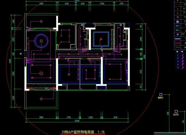 家装施工图纸 平面图 地面布置图