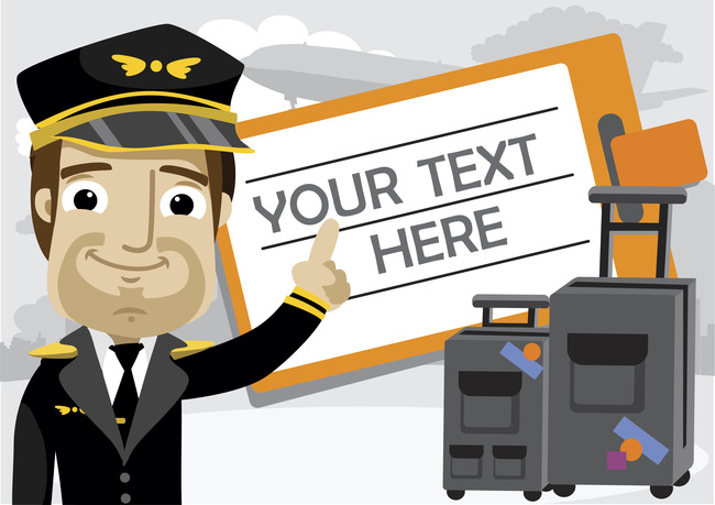 机场安检员卡通形象卡通空少图片下载空中服务员形象卡通机长卡通形象图片