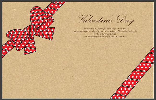平面设计 其他 图片素材 > 情人节蝴蝶结波点贺卡封面  下一张&