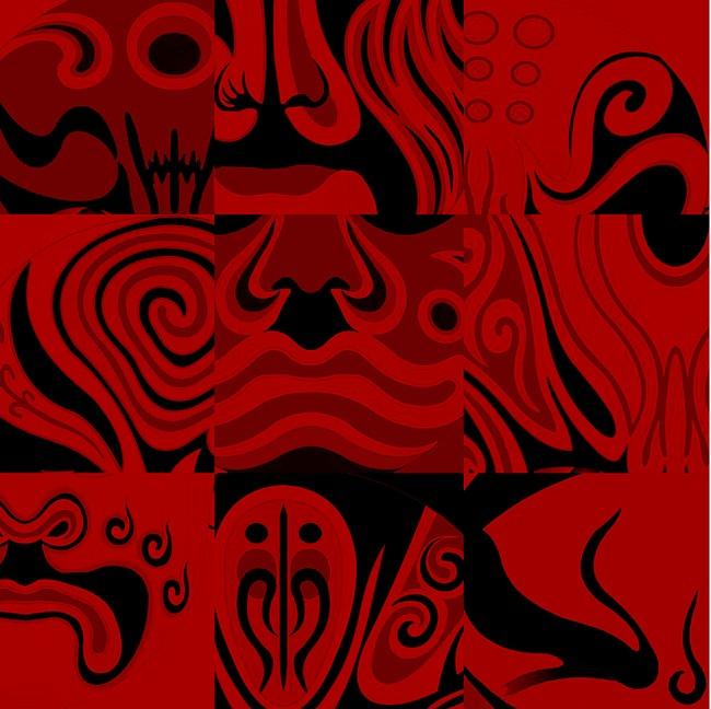 艺术脸谱壁画高清图片下载(图片编号12941269)抽象