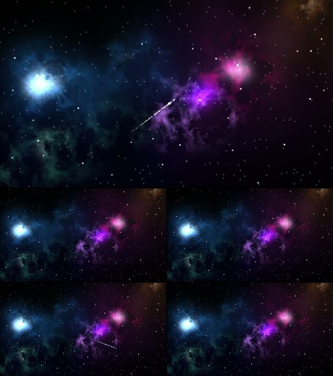 梦幻星空流星雨 led视频无缝循环模板下载 图片图片