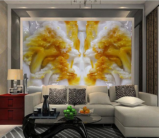3d立体树玉石玉雕浮雕客厅电视背景墙