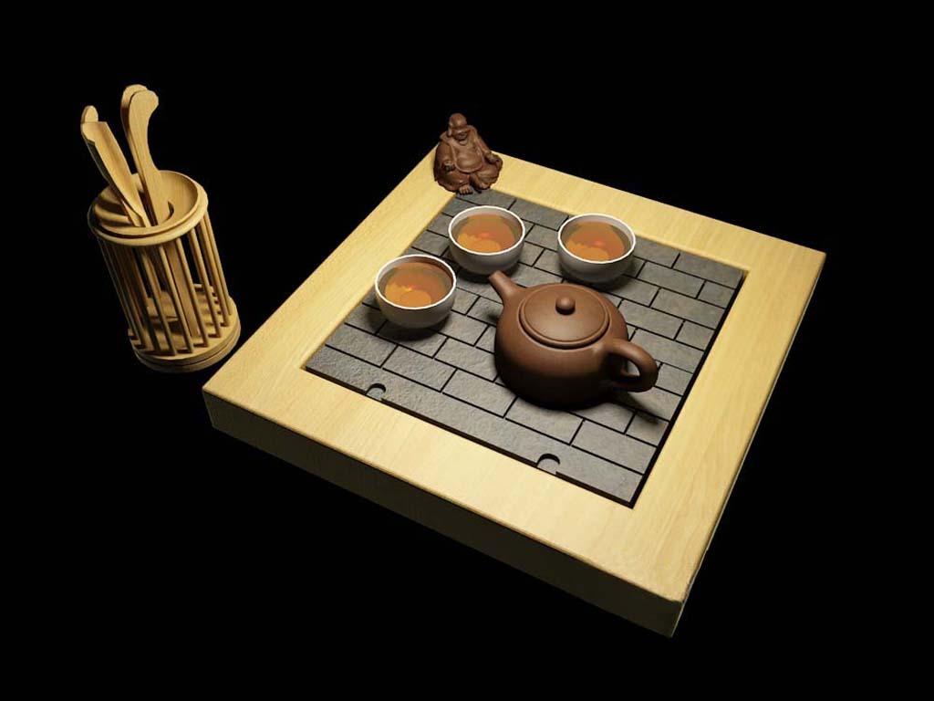3d模型 室内设计3d模型 单体模型 > 潮汕功夫茶具  下一张&gt