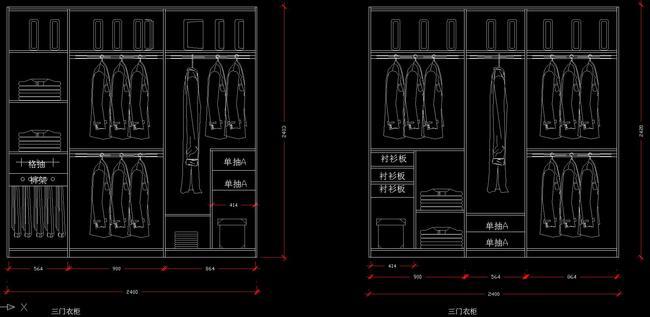 cad图库 室内设计cad图库 节点详图cad图纸 > cad上百款衣柜设计节点