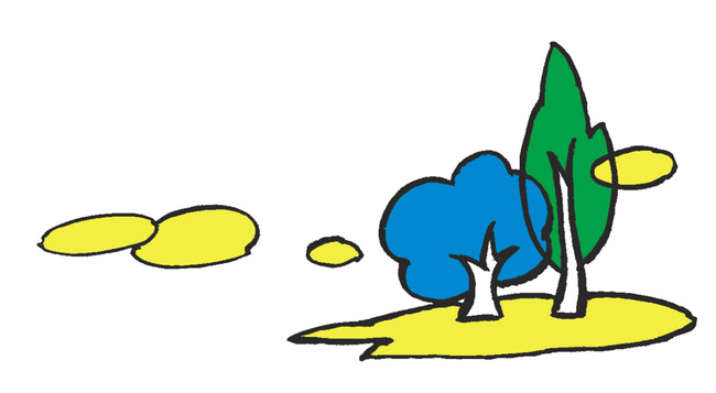 风景小品线描彩色插图2002