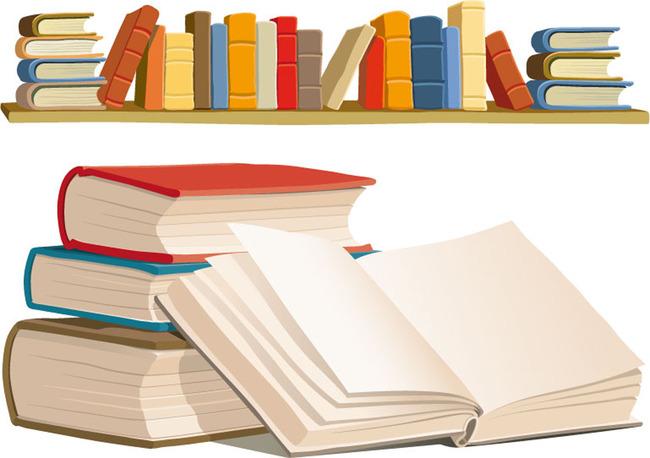 书本书架矢量素材