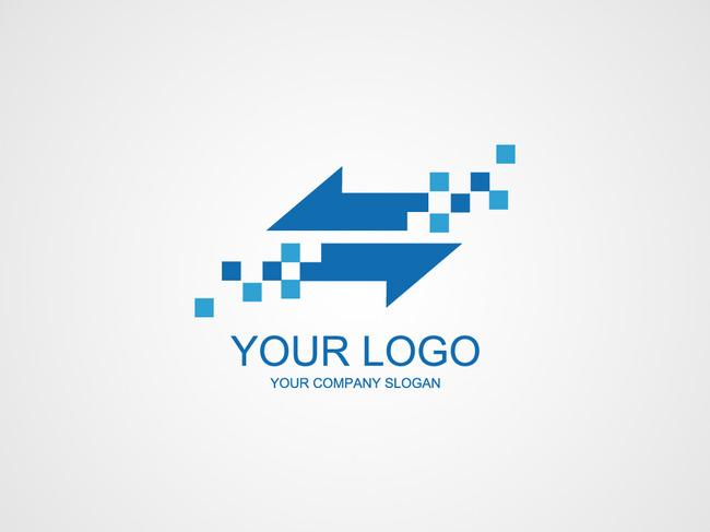 简约动感电子科技类logo