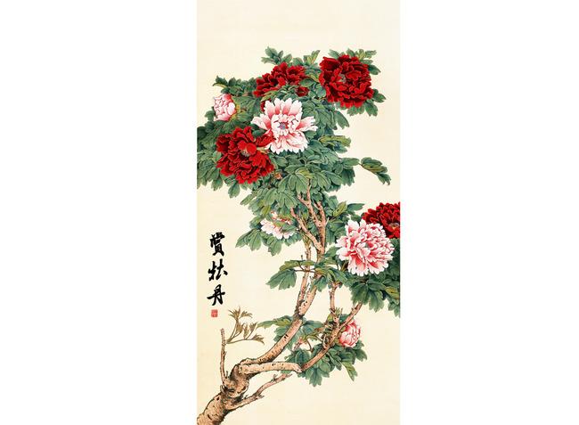 彩雕 雕刻 黑白图 花开富贵 富贵锦堂 蓝色牡丹 锦鸡 蝴蝶 山水画