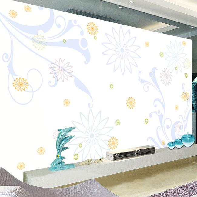 唯美时尚梦幻浪漫大型背景墙下载模板