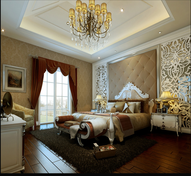 欧式复式楼别墅风格效果图片下载 电视背景墙衣柜实木家具橱柜客厅 餐图片
