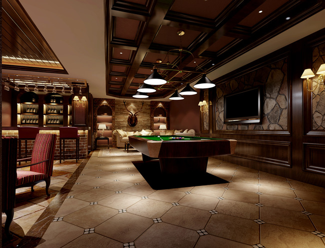 中式豪华娱乐会所装修效果图图片