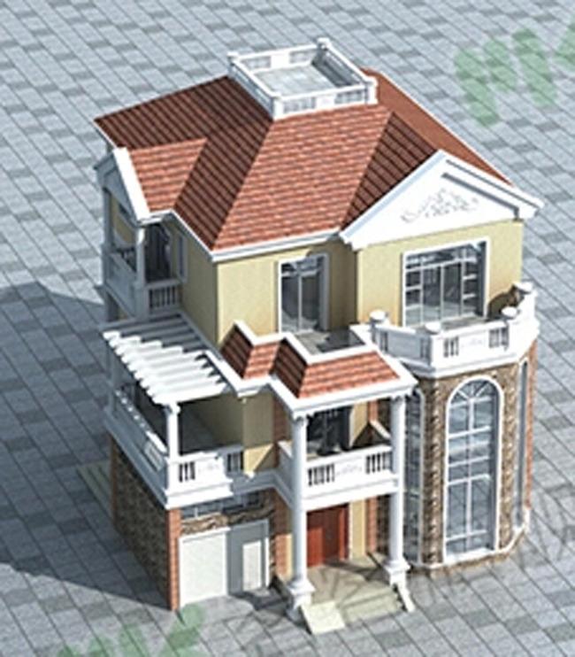 三层别墅cad施工图带效果图