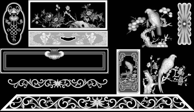 背景墙|装饰画 其他 雕刻图案 > 电视柜餐桌精雕jdp灰度图  下一张&