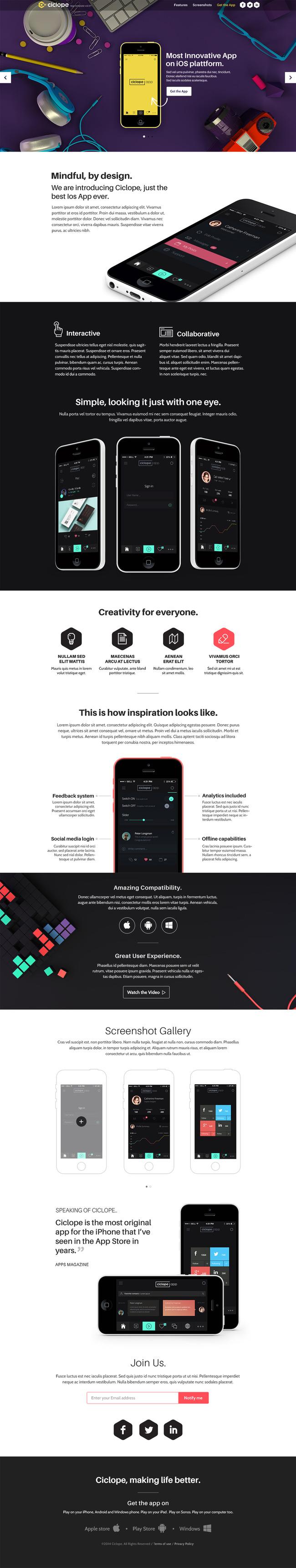 网页手机展示模板