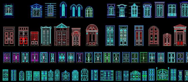 cad欧式图库大全雕花门窗户罗马柱楼梯
