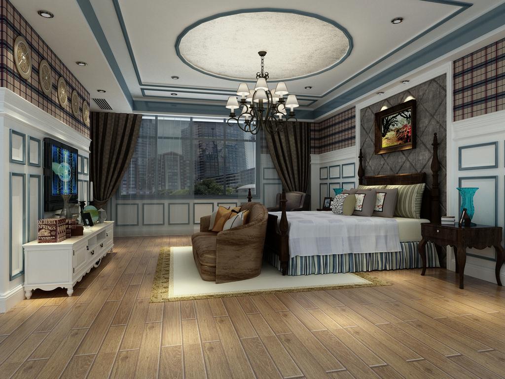别墅卧室效果图
