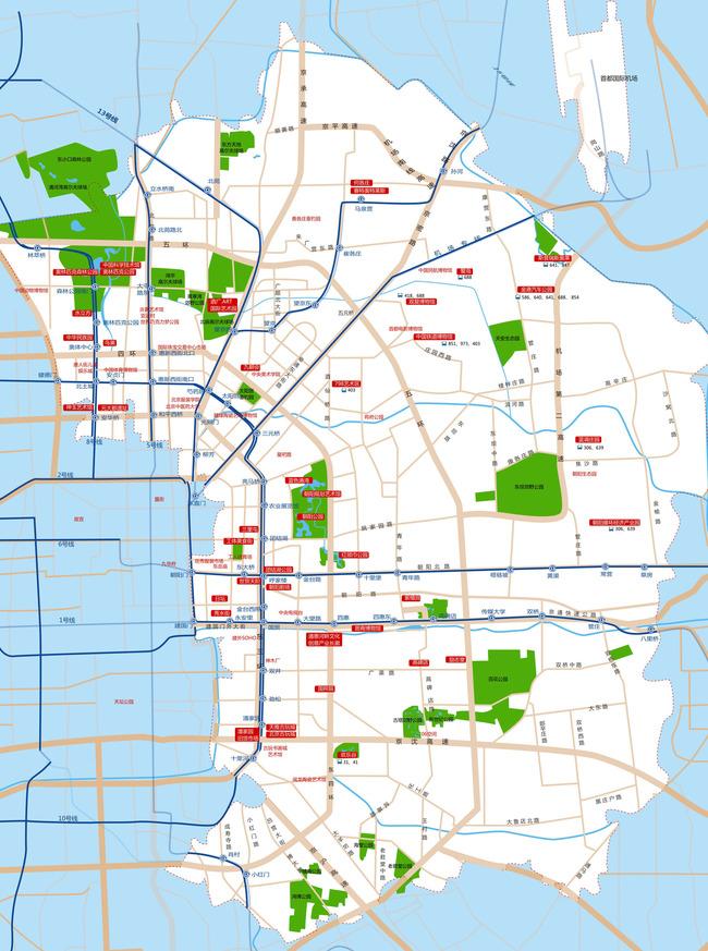 平面设计 地图 中国地图 > 北京旅游区景点分布图  下一张&gt