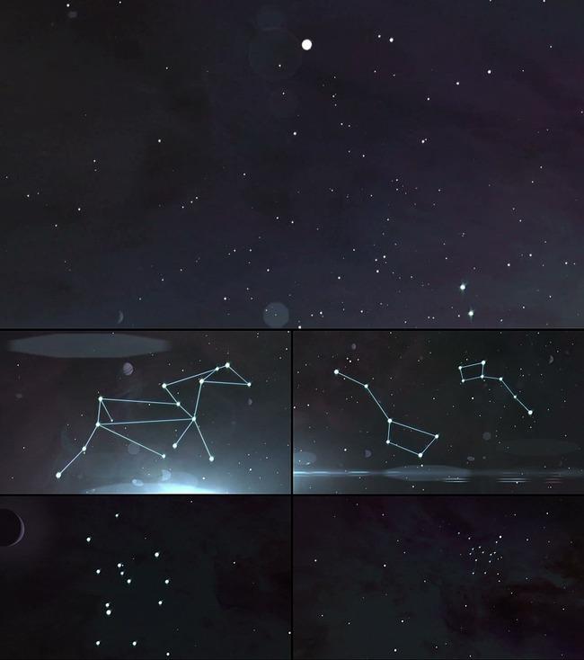 星空星座背景图片