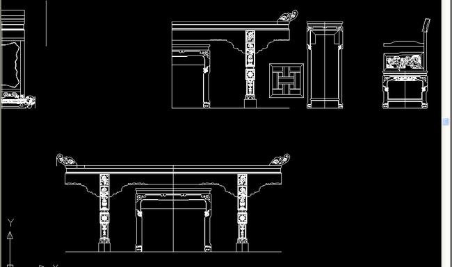 三视图中式红木家具