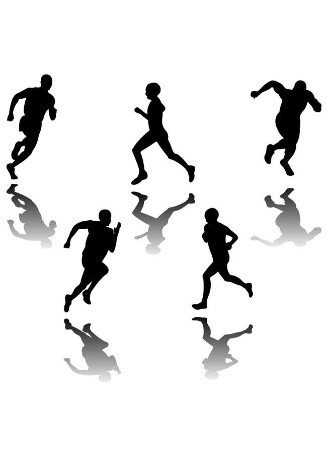 跑步 剪影 跑步人物剪影 跑步运动员剪影 跑步女孩剪影 跑步者剪影 跑