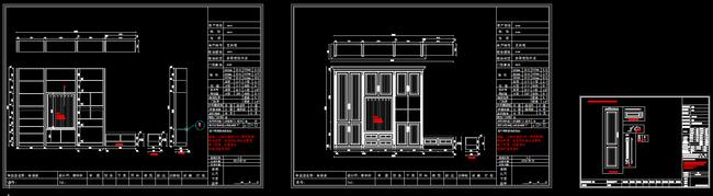 cad衣柜设计施工图图片下载
