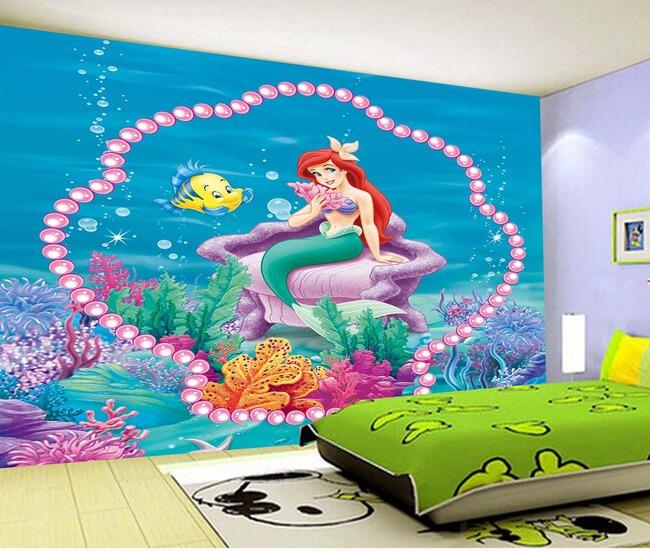 卡通幼儿园画画室内背景墙模板下载