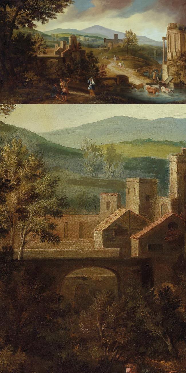 欧美古典风景油画模板下载