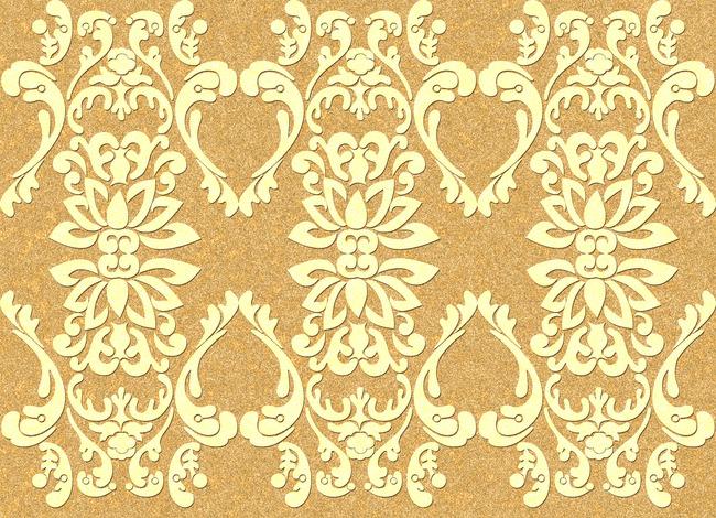 金色凸凹纹理 浮雕装饰 欧式花卉金色花卉 金色图案 金色墙纸 背景墙图片