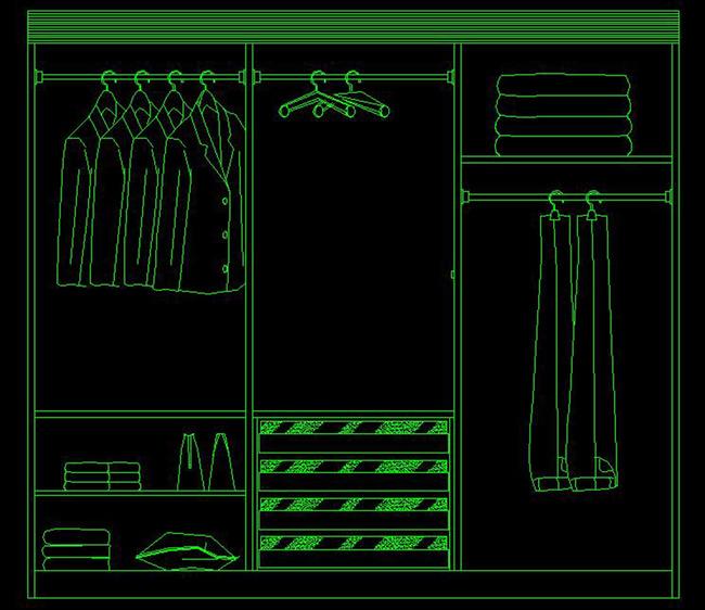 衣橱 柜子施工图 衣柜立面图 橱柜详图 cad柜子设计 家具设计 实木