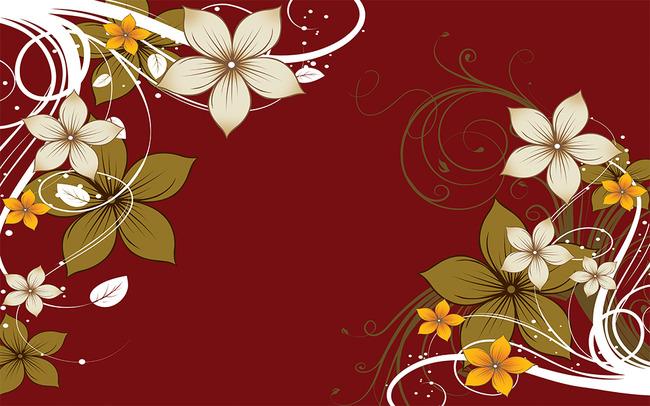 花纹红色瓷砖花藤欧式电视背景墙