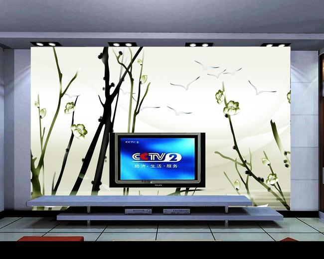 背景墙|装饰画 电视背景墙 电视背景墙 > 手绘个性水墨背景墙  下一张