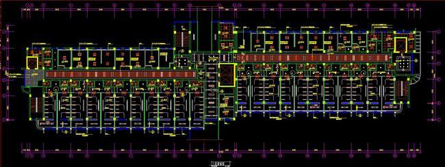 cad医院平面布置图天花顶面布置图