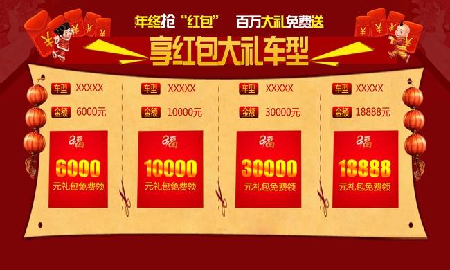 春节店头活动模板/红包模板