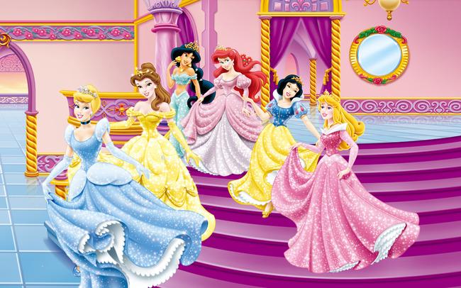 电视背景墙 现代简约电视背景墙 > 高清卡通迪斯尼六公主系列装饰壁画
