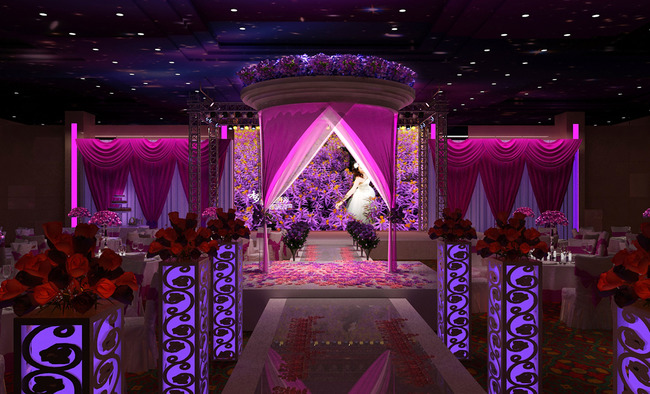 室内设计 整套3d模型 室内模型 > 浪漫的紫色婚礼婚庆效果图3dmax模型