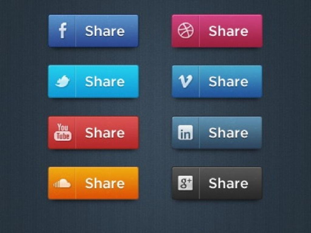 ui设计 图标 社交网站图标 > 网站网页社交媒体按钮psd素材  下一张&