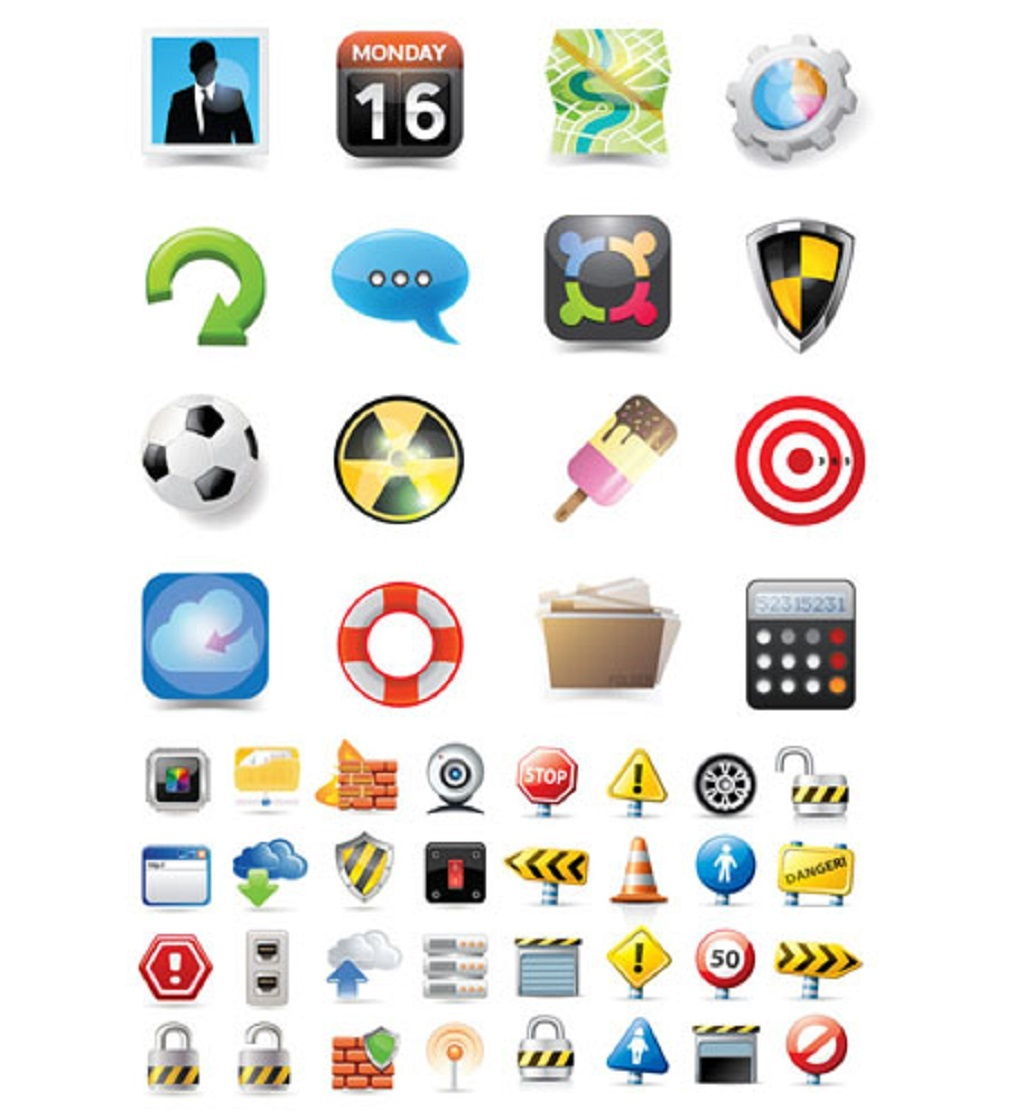 网站界面icon元素ui矢量eps素材