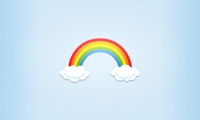 卡通彩虹云图标图片psd素材