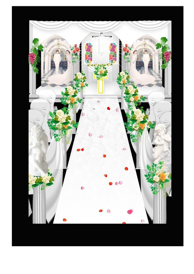 3d婚礼舞台场景设计模板下载