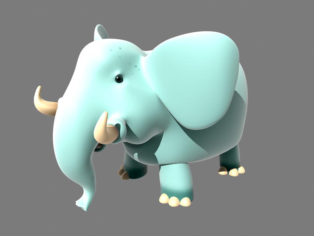 3d模型 3d游戏模型 人物3d模型 > maya卡通大象绑定骨骼  下一张&nbsp