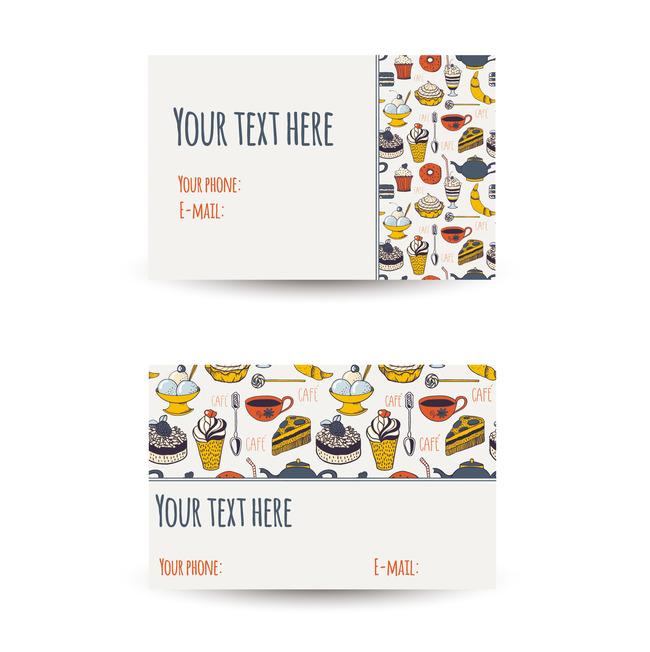 创意个性甜品店名片设计模板下载(图片编号:13125290)