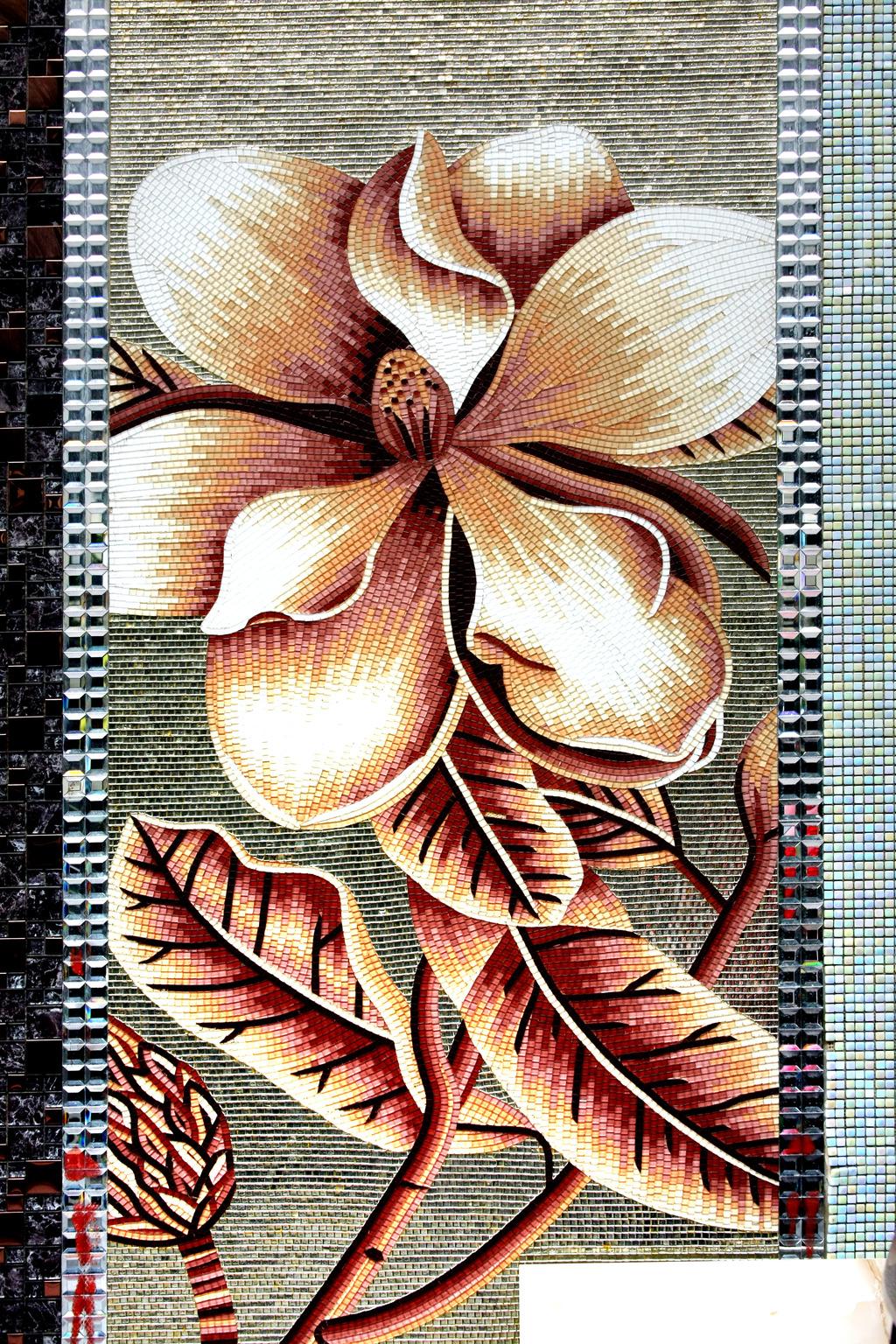 马赛克花卉装饰画