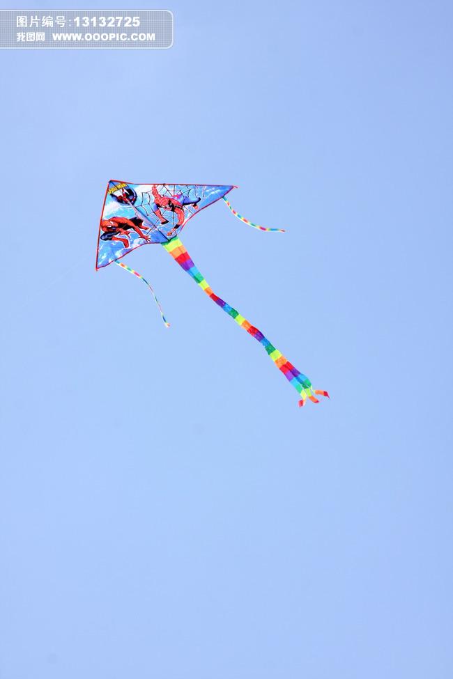 风筝图片模板下载 风筝图片图片下载 放飞 放风筝 蓝天 纸风筝 彩色