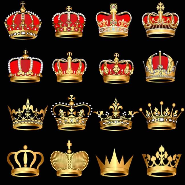 精美欧式复古皇冠王冠图标矢量素材